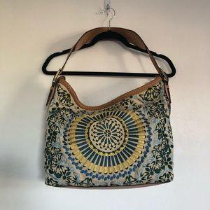 Vintage Cole Hann Embroidered Sierra Tote Bag.